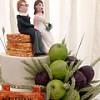 Farm-Themed-Wedding with Cascading Handmade Fruit