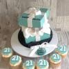 Tiffany Celebration cake & Cupcakes