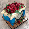 Large Floral Gift Bag Novelty Cake from £195