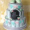 3 Tier Shabby Chic Christening Celebration Cake from £270