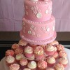 Christening Celebration Cake And Cupcakes