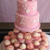 Christening Celebration Cake And Cupcakes