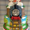 2 Tiered Large Thomas The Tank Engine Cake (feeds 60-70) £195
