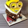 """Large 10"""" Minion Cake from £199 feeds 100+"""