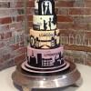 Silhouette London Liverpool Skyline Wedding Cake From £650