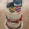 Semi Naked Themed Wedding Cake