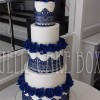 5 Tier Blue Lace Wedding Cake from £695