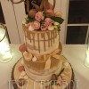Two Tier Semi-Naked Birthday Cake