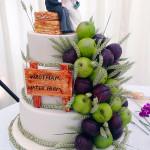 Farm Themed Wedding Cake