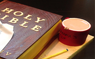 Bible and Cuppa Novelty Cake