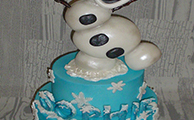3D Olaf Free Standing Novelty Cake from £175 (feeds 60+)