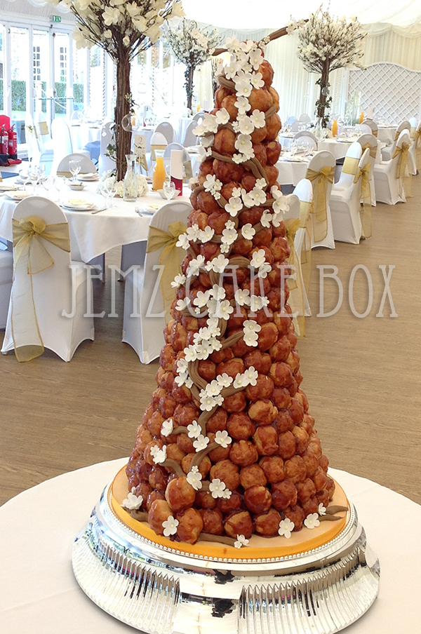 French Profiteroles Wedding Cake