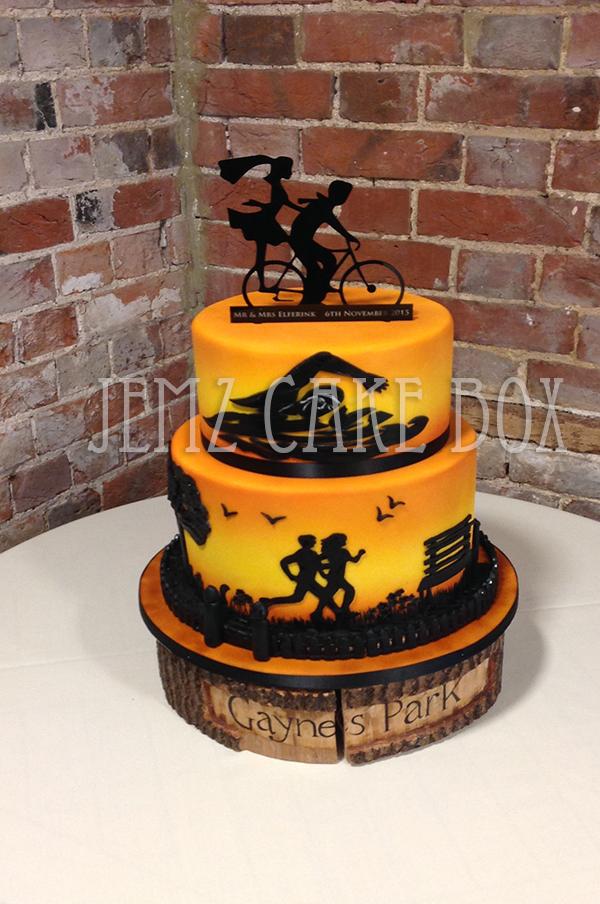 Triathlon Birthday Cake