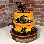 Triathlon Themed Wedding Cake