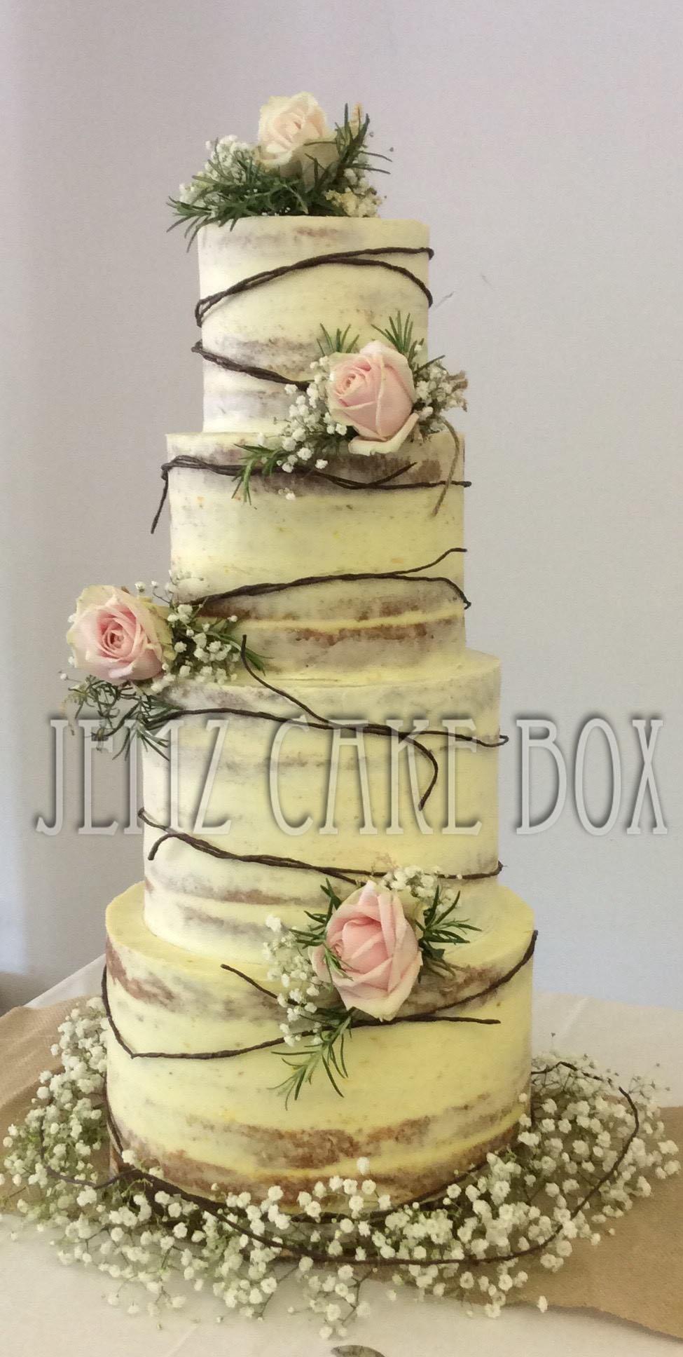 Semi Naked Wedding Cake From £399 | Jemz Cake Box