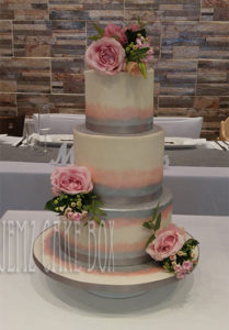 Hand Painted Shimmer Wedding Cake